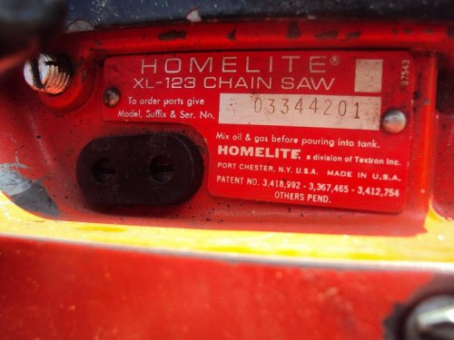 Homelite XL-123 - Chainsaw Collectors se